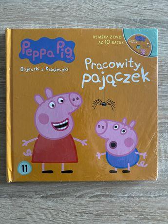 Peppa Pig. Książka z DVD. Bajeczki z Książeczki. Pracowity pajączek.