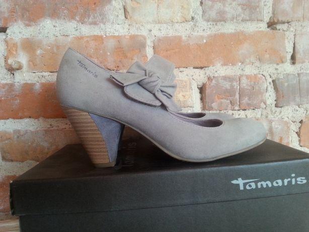 zamszowe pantofle Tamaris rozmiar 38