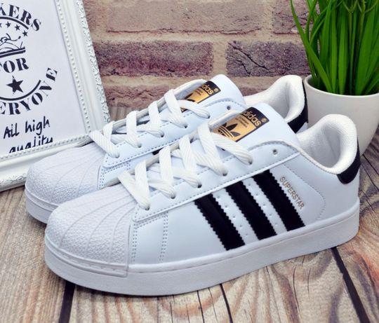 Кроссовки женские Adidas Superstar White, адидас суперстар белые