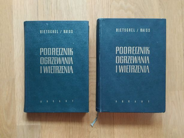 Podręcznik ogrzewania i wietrzenia 1, 2, 3 - Rietschel, Warszawa 1963