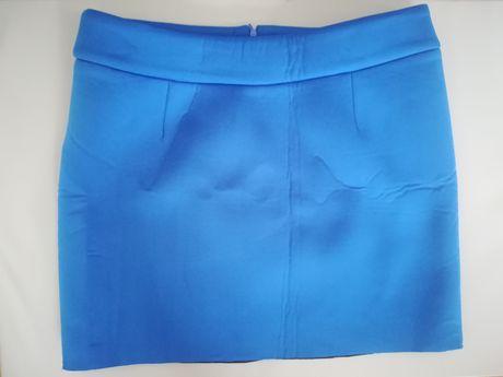 Spódniczka, niebieska spódniczka, spódniczka piankowa, spódniczka mini