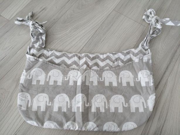 Przybornik organizer torba na łóżeczko niemowlęce