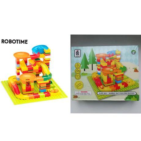 Конструктор Robotime детский, лабиринт, lego, туннель, горка track шар