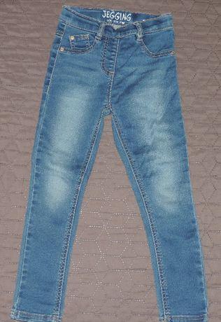 NEXT jeansowe jegginsy dziewczęce roz.116 cm
