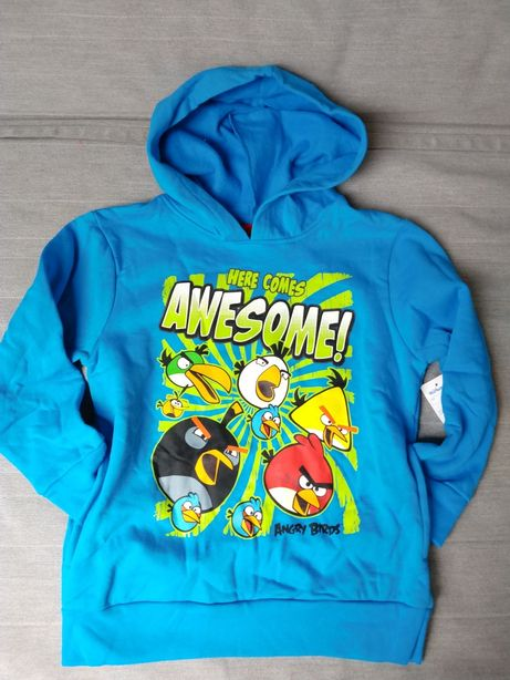 Bluza z kapturem z Angry Birds na 8 lat nowa