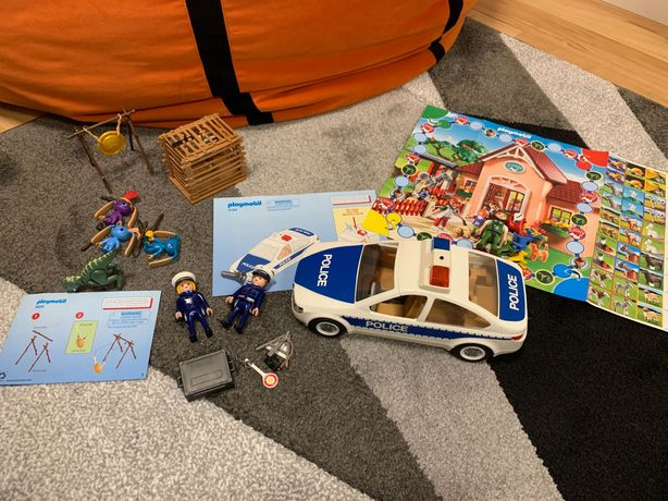 Playmobil, radiowóz 5184 oraz zestaw 9006 i gra.