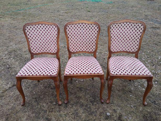 3 krzesła ludwikowskie