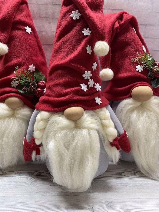 Новогодний гном 48 см Рождественские гномы опт розница Харьков - изображение 1