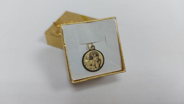 Piękny złoty wisiorek z aniołkiem złoto 585