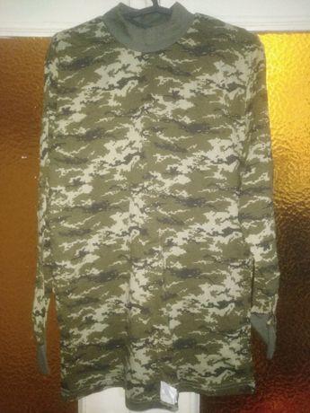 Зимняя футболка тактическая Темный пиксель