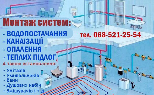Сантехник. Водопровод, отопление, канализация в новостройках и т.д..