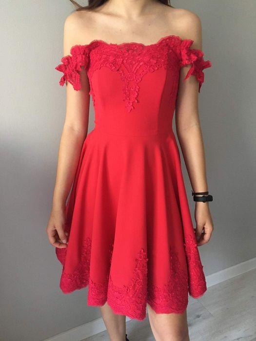 czerwona sukienka Śrem - image 1