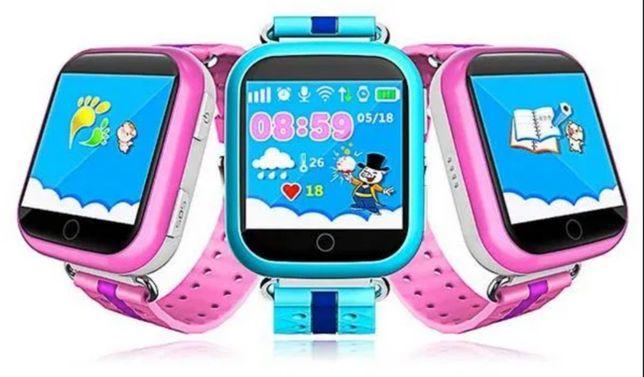 Детские смарт часы Q100S камера, фонарик, прослушка, GPS ОРИГИНАЛ