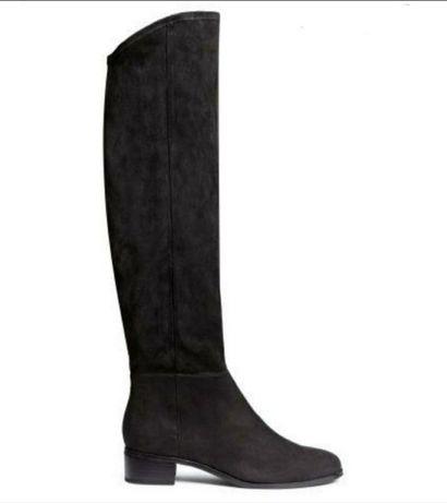 Новые стильные сапоги чулки, ботфорты H&M