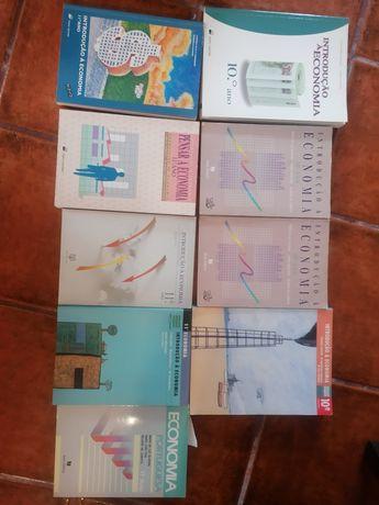 Conjunto de livro de Economia 10° e 11° ano