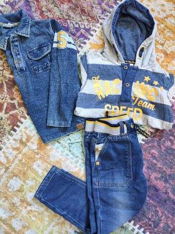 Комплект,набор,набір,костюм,джинси,кофта,реглан,поло,джинсы Италия