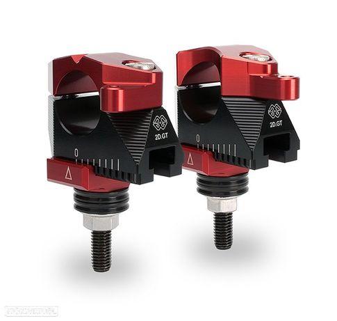 aumentos de torres de guiador ajustáveis gilles tooling, vermelho
