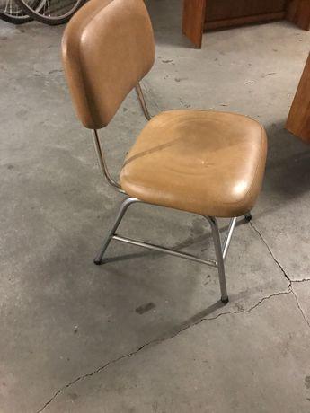 Cadeira vintage castanha camel