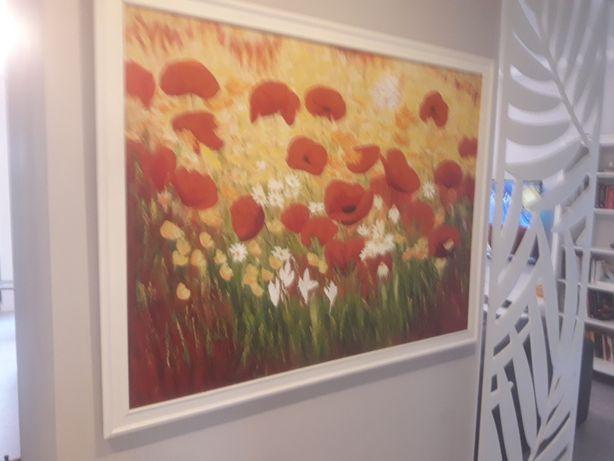 Duży obraz (130x100)ręcznie malowany