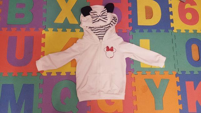 Bluza Disney Minnie Mouse 98/104 C&A biała kaptur
