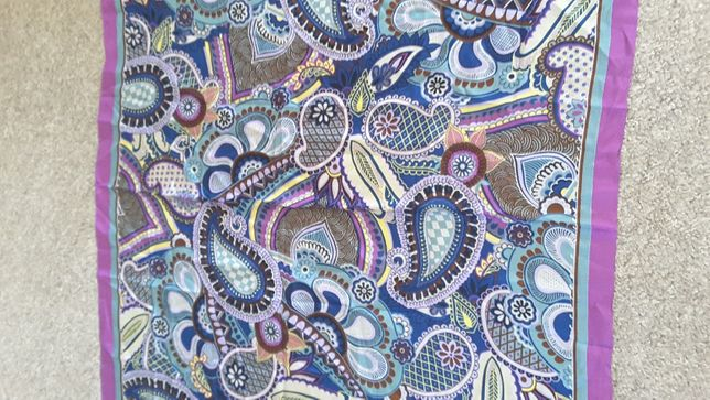 Шелковый Платок шарф итальянский дизайнер Codello 100% шелк