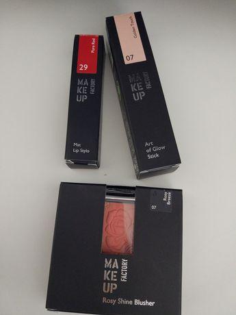 Blusher, Batom, Iluminador Makeup Factory NOVO