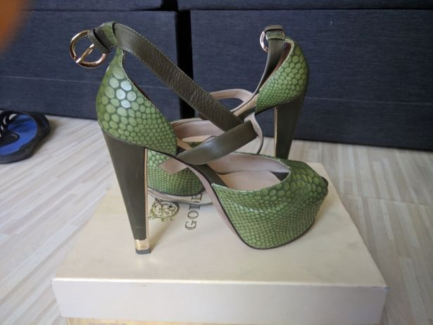 Босоножки туфли Gode высокий каблук Италия