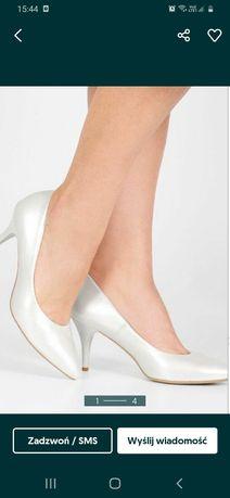 Buty biały perłowy
