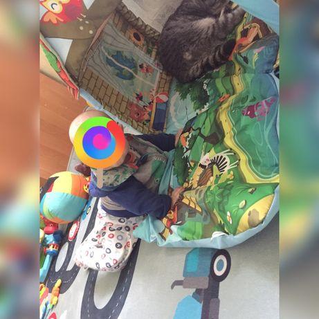 Развивающий коврик-домик два в одном трансформер, обувь в подарок