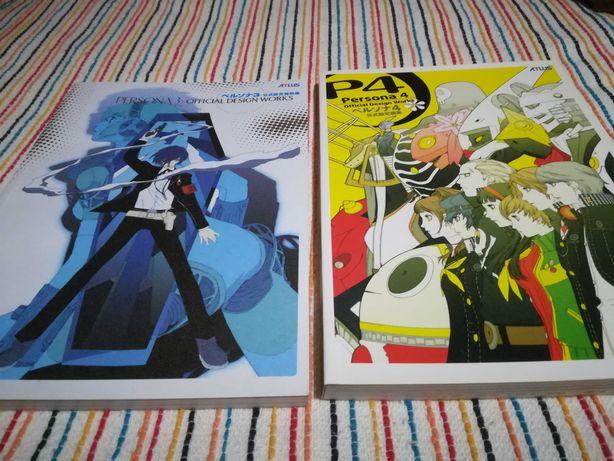 Livros de arte de Persona 3 e Persona 4, totalmente em inglês