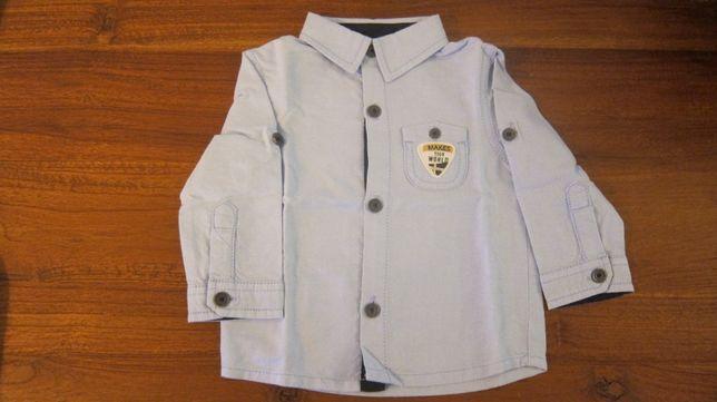 Camisa azul clara menino 6-9 meses