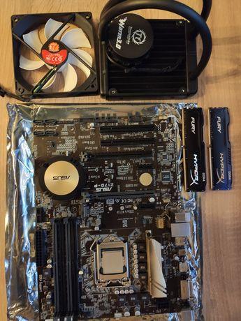 Intel i5-6600K, Asus z170-p, chłodzenie Thermaltake, 16GB HyperX DDR4