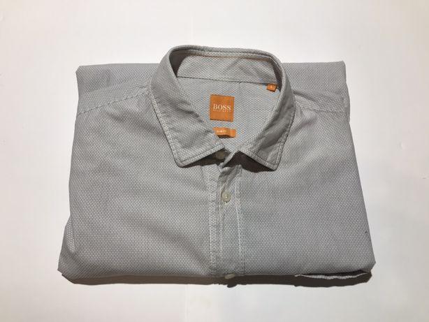 Мужская классическая рубашка hugo boss размер л