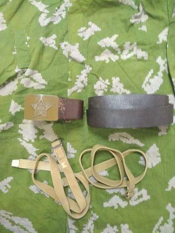 Продам солдатский полевой и кожаный ремень
