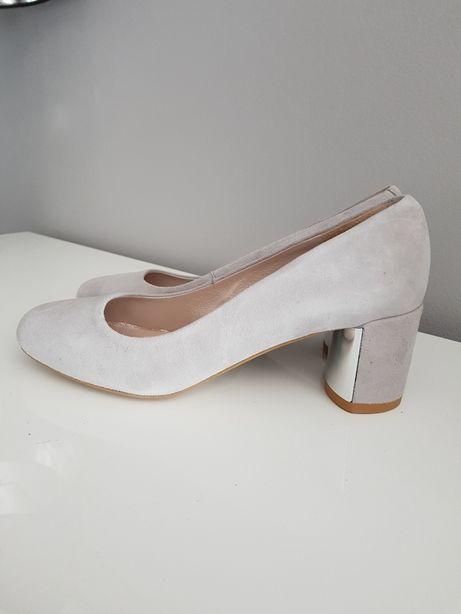 nowe skórzane buty czółenka damskie Gino Rossi eri r 37.5 wkl 24.cm