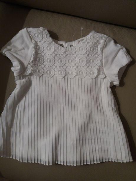 Urocza sukienka do chrztu dla dziewczynki Mayoral nowa modne plisy