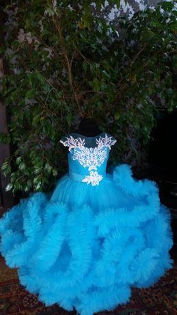 платье облако голубое, новое