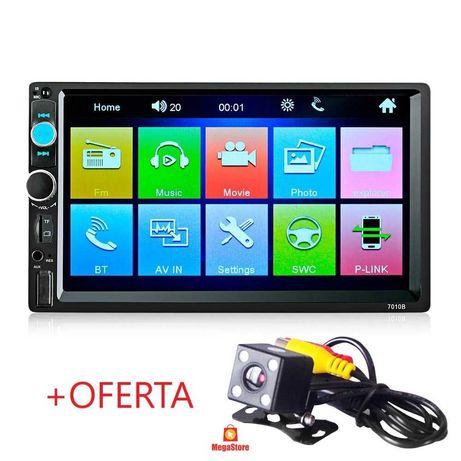 """(NOVO) Rádio 2DIN 7"""" + Oferta Camâra - Bluetooth USB Micro SD 1080p"""
