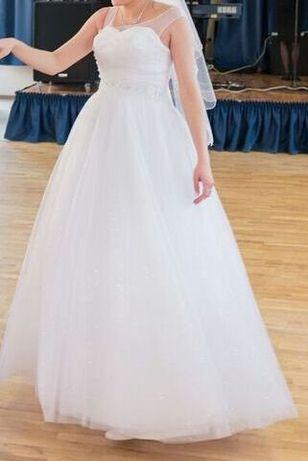 Suknia ślubna Daliette 38 wiązana karczek