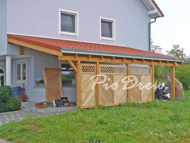 Garaz drewniany, wiata garażowa ,zadaszenie ,Carport