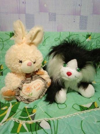Мягкие игрушки зайка с сердцем(заяц зайчик) кот, новая