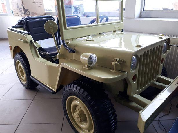 Auto TerenoweXXL Jeep 4x4 na akumulator RATY obciążenie 60kg 3 OSOBOWE