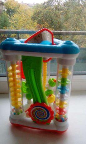 Игрушка с зеркалом, бусинками для детей от 6 месяцев