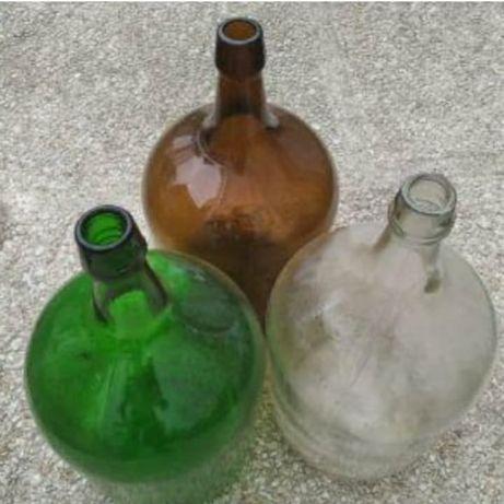 Garrafão antigo de vidro 5L