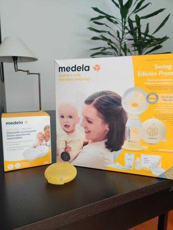Conjunto Medela - Bomba de extração + Discos absorventes + Protetores