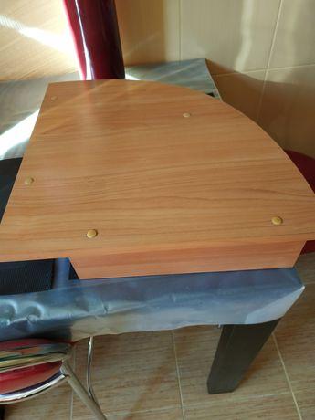 Полка деревянная от комп стола угловая 40 см на 40 см