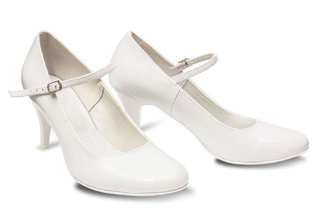 Buty ślubne ze skóry