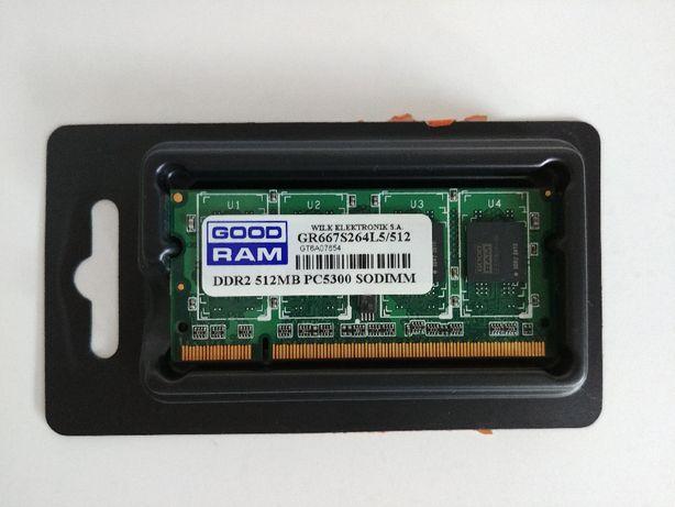 Pamięć RAM do laptopa GOODRAM DDR2 512MB PC5300 SODIMM