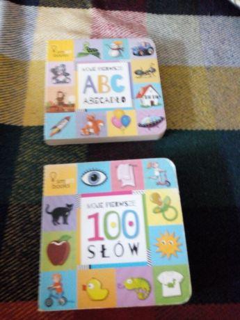 Książeczki dla malucha do nauki mówienia 2 sztuki.