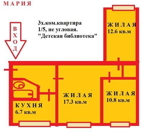 Продам 3х.ком.квартиру в Приморском районе пр.Строителей